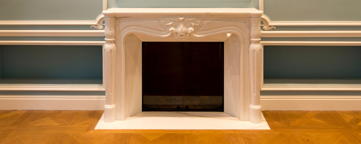 custom fireplaces in marble for a private residence in paris