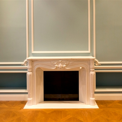 Custom fireplaces with an integrated metal frame
